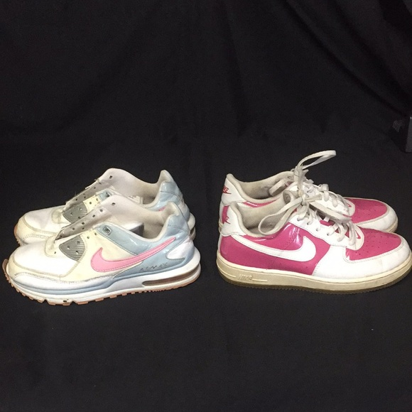2.5Y and 3Y Girl Nike Air Max and Air Force1 shoes
